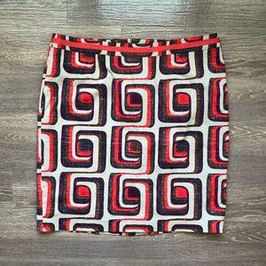 Boden Multi Color Patterned Mini Skirt